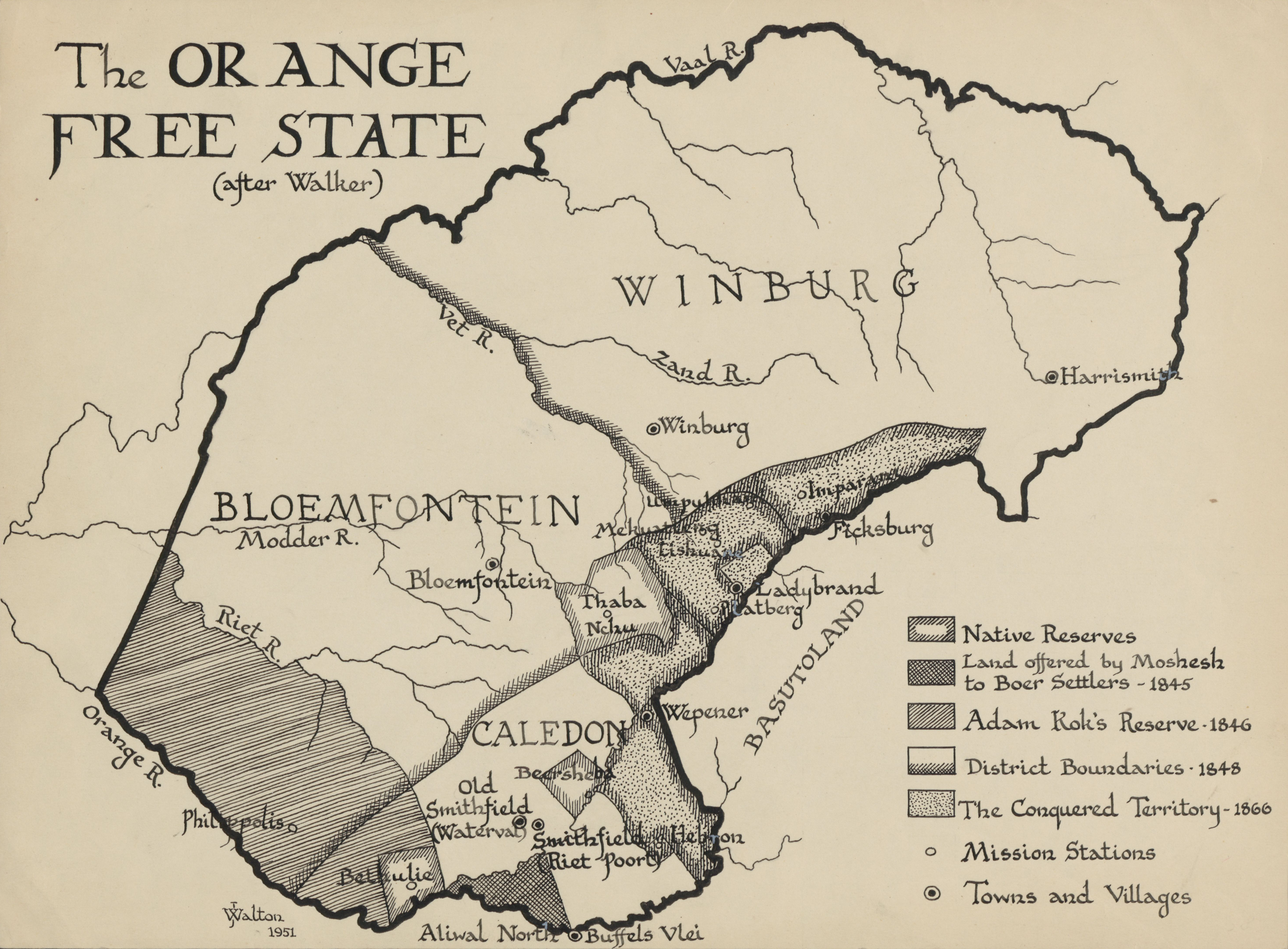 Map Of The Orange Free State