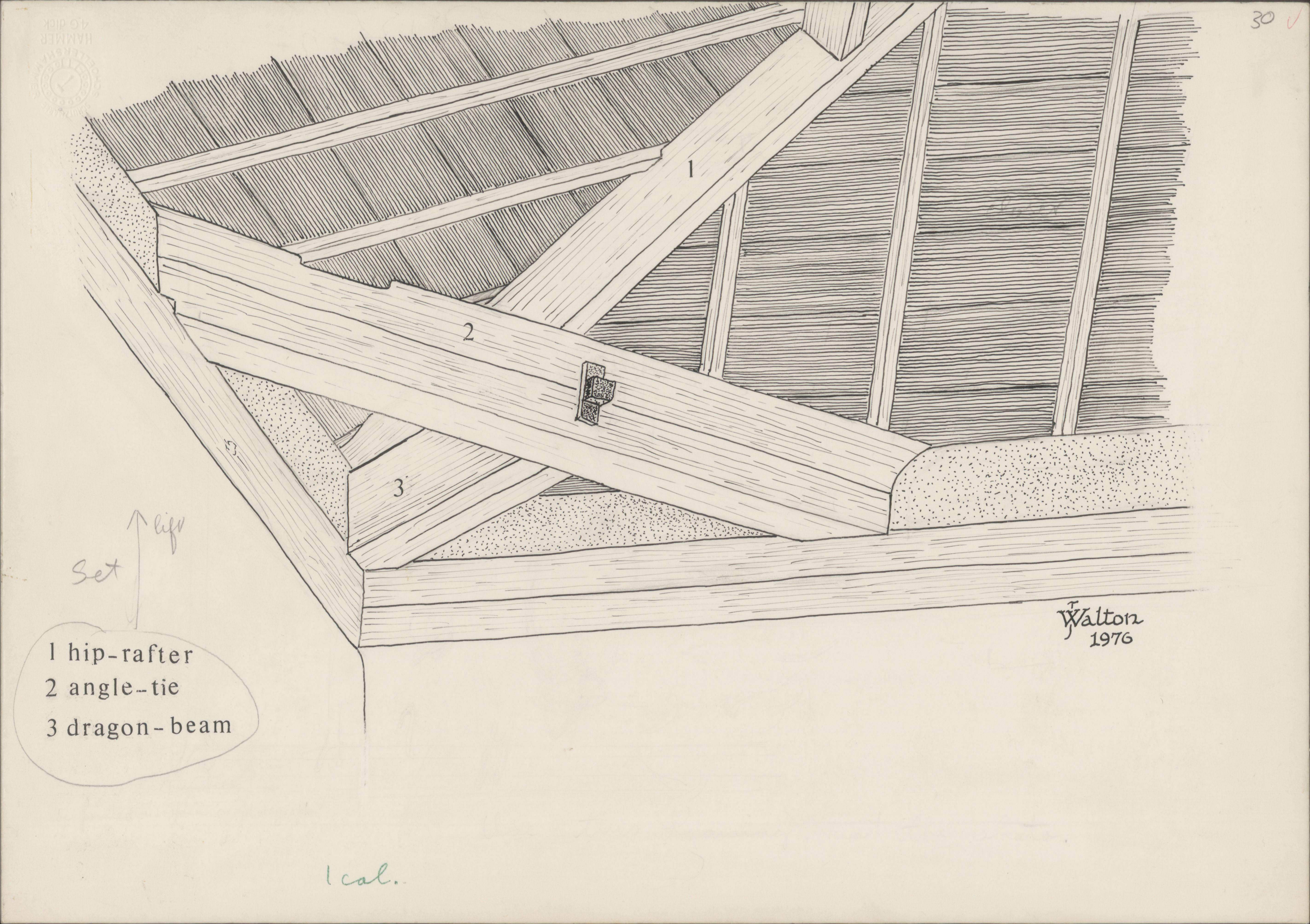 Josephine Mill Hip Rafter Angle Tie And Dragon Beam Of