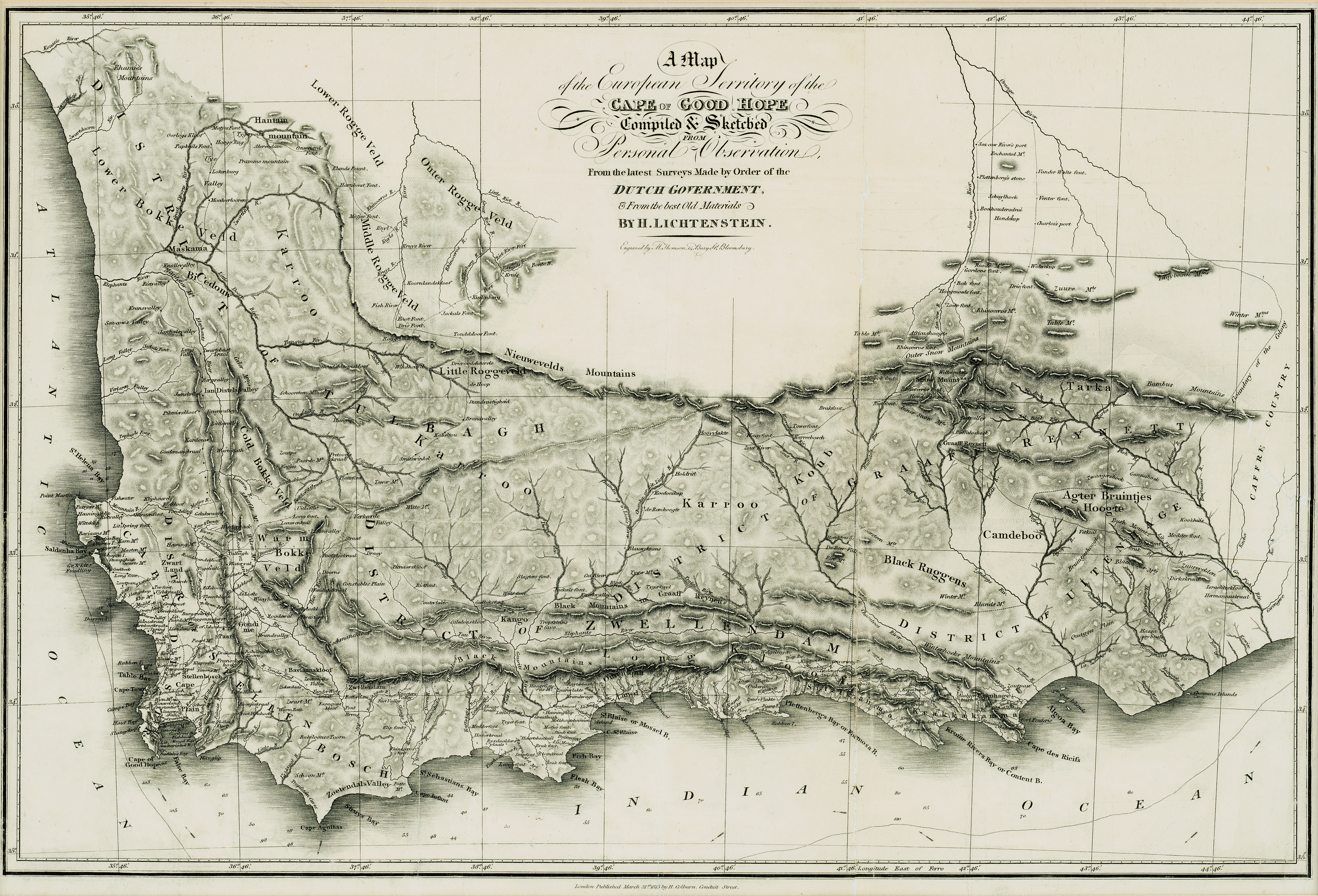 A map of the European territory of the Cape of Good Hope